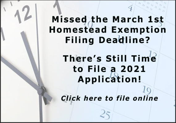File a 2021 Homestead Application